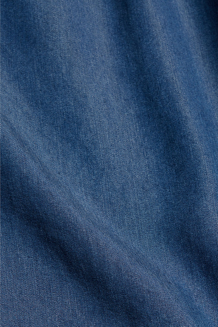 Aus TENCEL™:  Shorts im Denim-Look, BLUE MEDIUM WASHED, detail image number 4