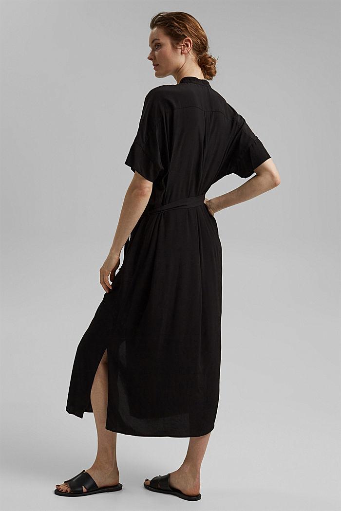 Maxi-Blusenkleid mit LENZING™ ECOVERO™, BLACK, detail image number 2