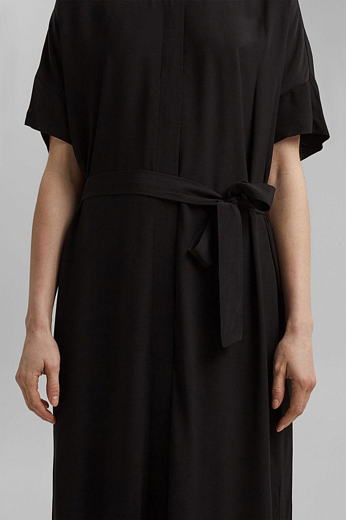 Maxi-Blusenkleid mit LENZING™ ECOVERO™, BLACK, detail image number 3