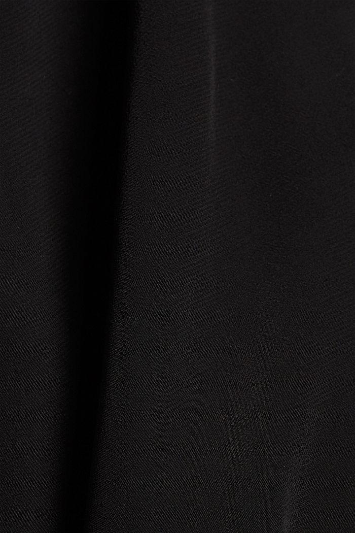 Maxi-Blusenkleid mit LENZING™ ECOVERO™, BLACK, detail image number 4
