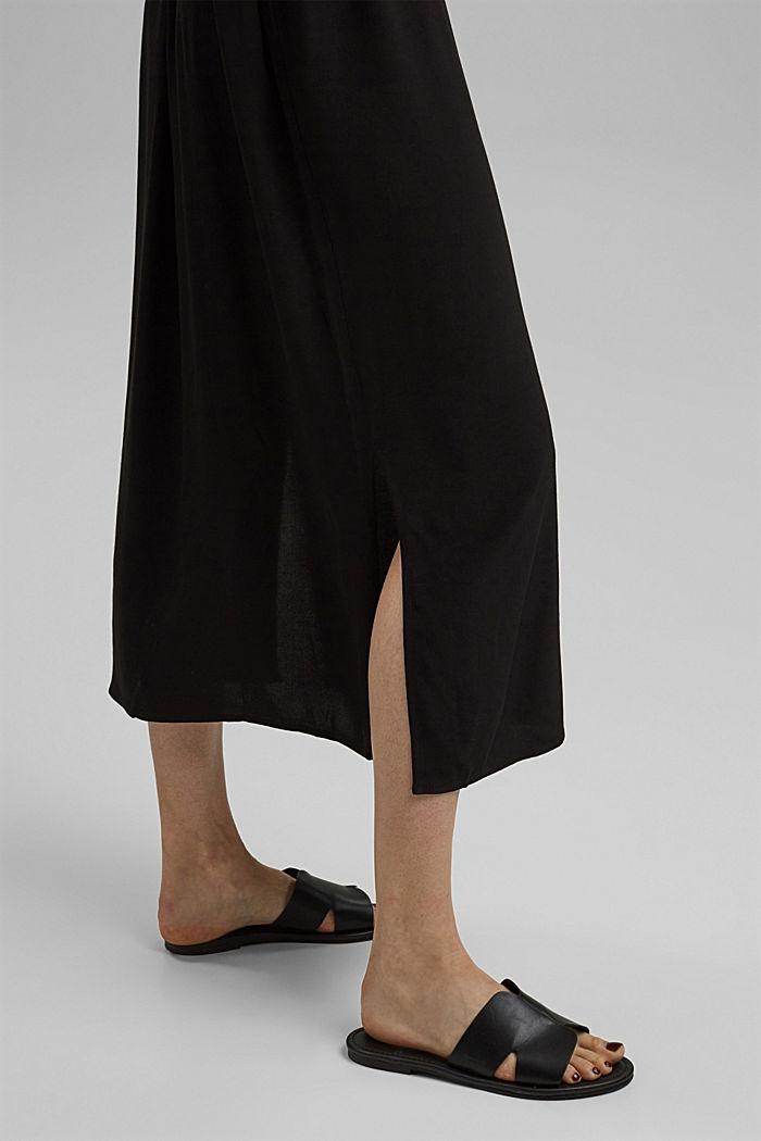 Maxi-Blusenkleid mit LENZING™ ECOVERO™, BLACK, detail image number 5
