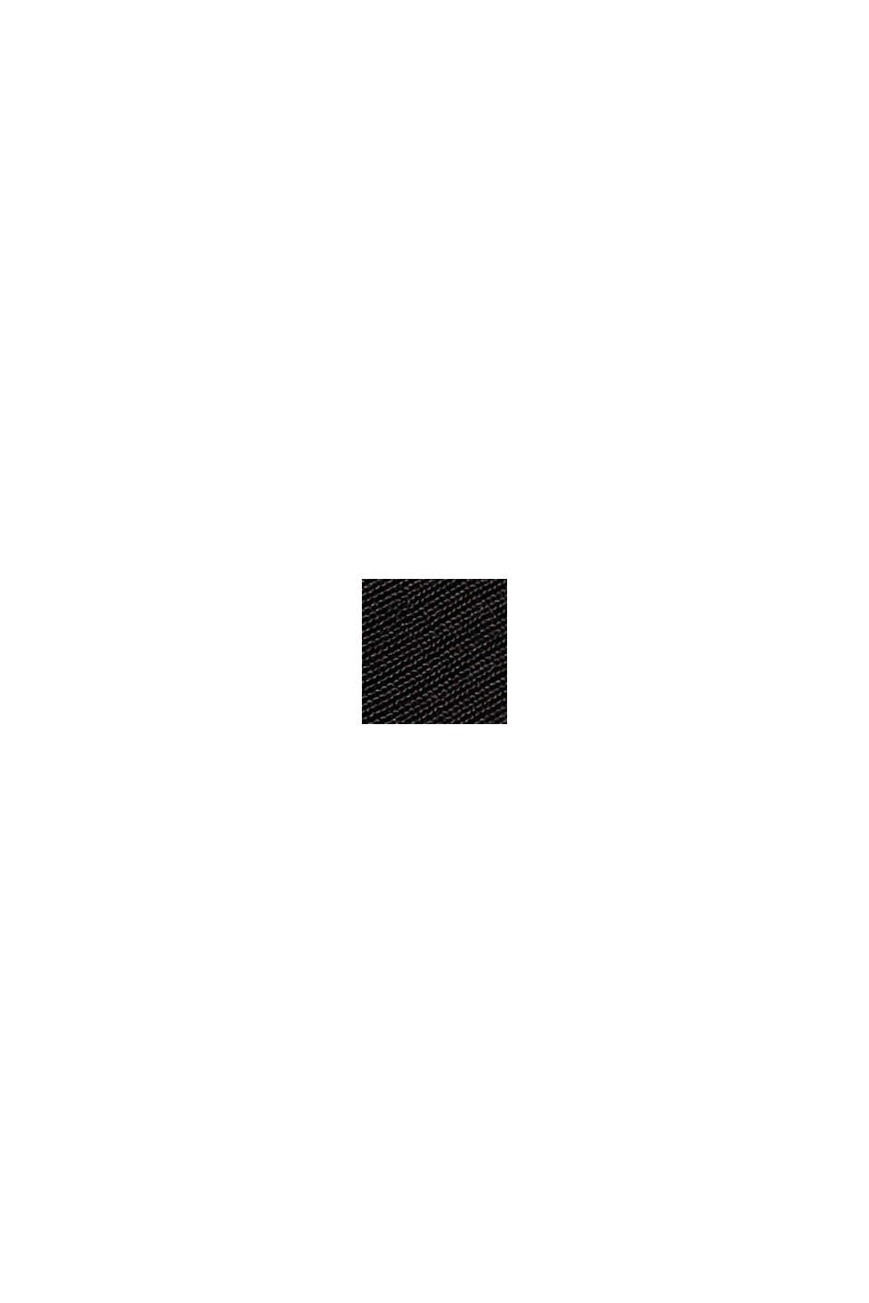 Abito blusato maxi con LENZING™ ECOVERO™, BLACK, swatch