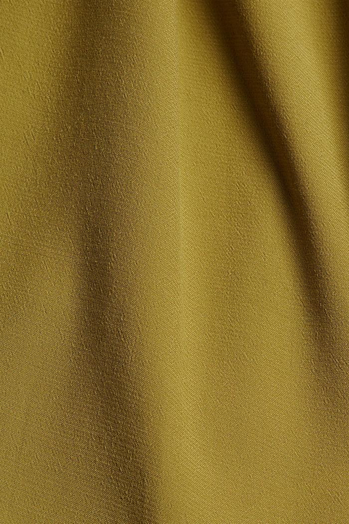 Robe chemisier maxi longueur à teneur en fibres LENZING™ ECOVERO™, OLIVE, detail image number 4