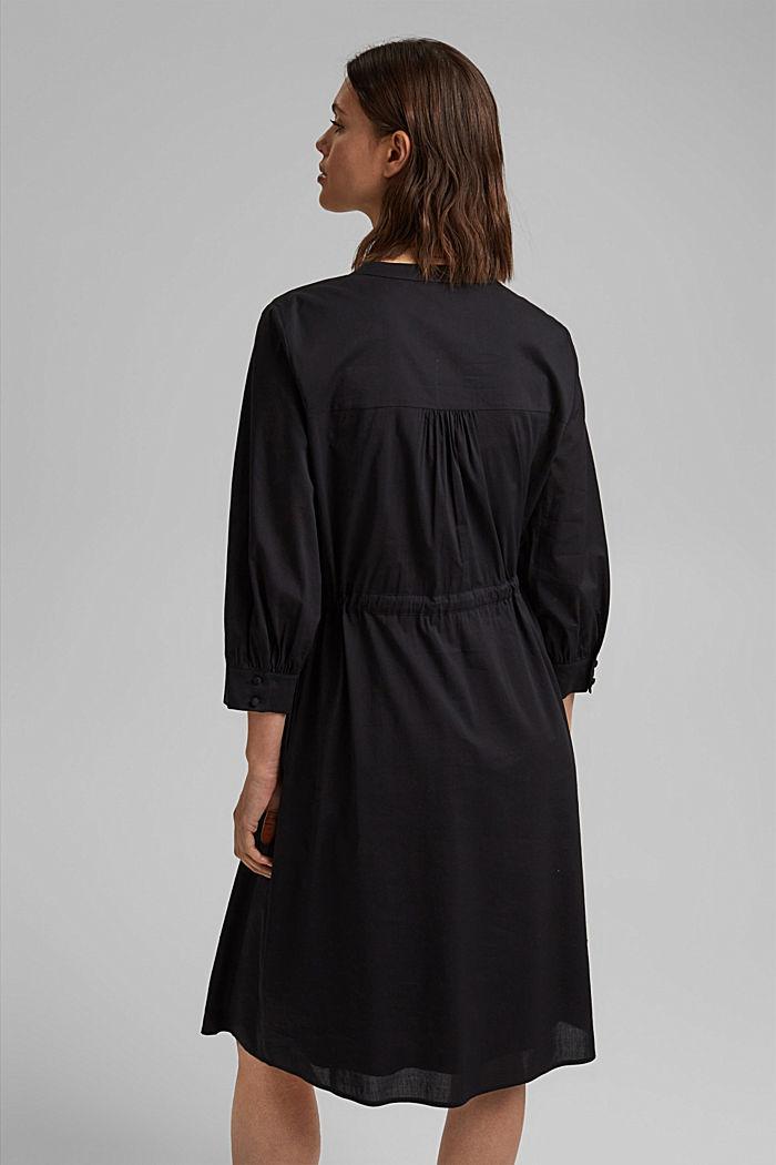 Splývavé tkané šaty s vlákny LENZING™ ECOVERO™, BLACK, detail image number 2