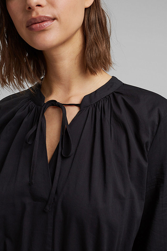 Splývavé tkané šaty s vlákny LENZING™ ECOVERO™, BLACK, detail image number 3