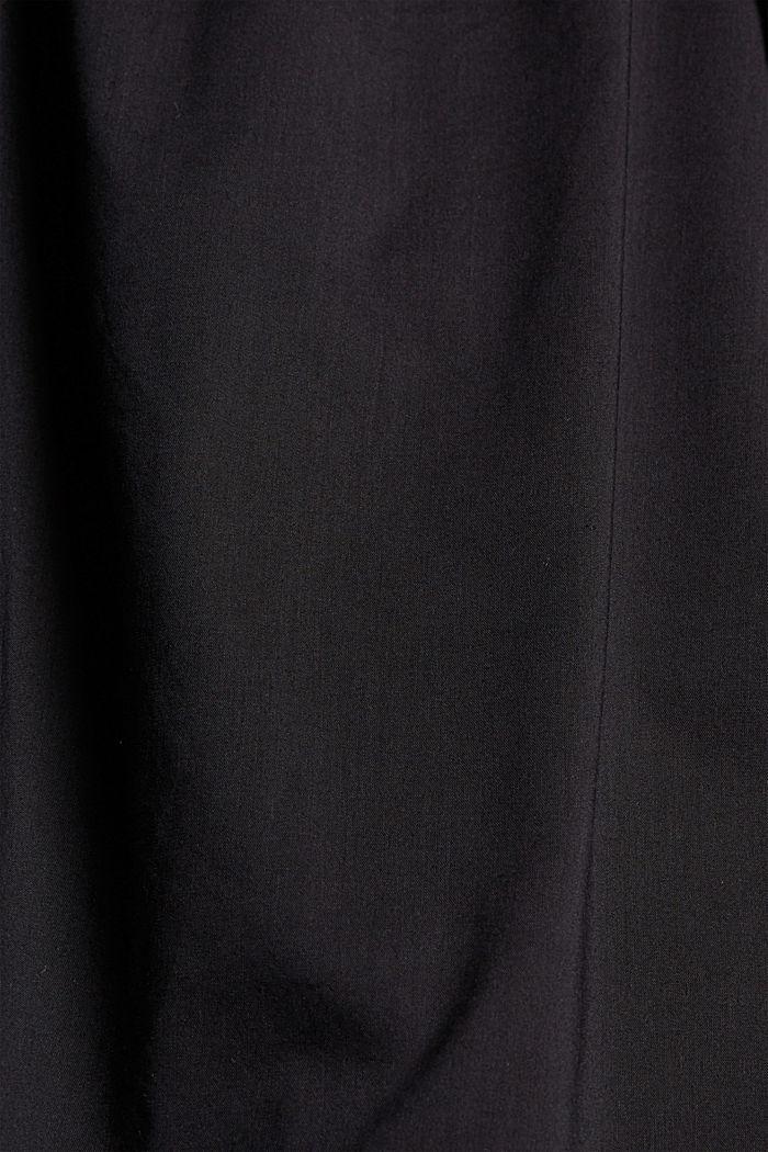 Splývavé tkané šaty s vlákny LENZING™ ECOVERO™, BLACK, detail image number 4
