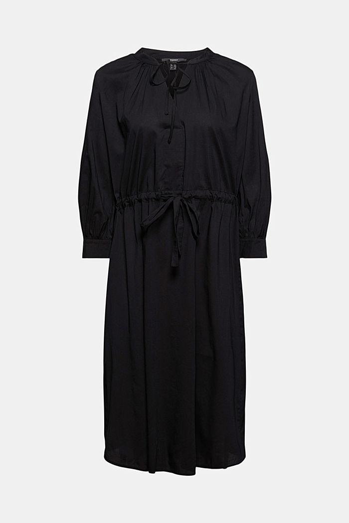 Splývavé tkané šaty s vlákny LENZING™ ECOVERO™, BLACK, detail image number 5
