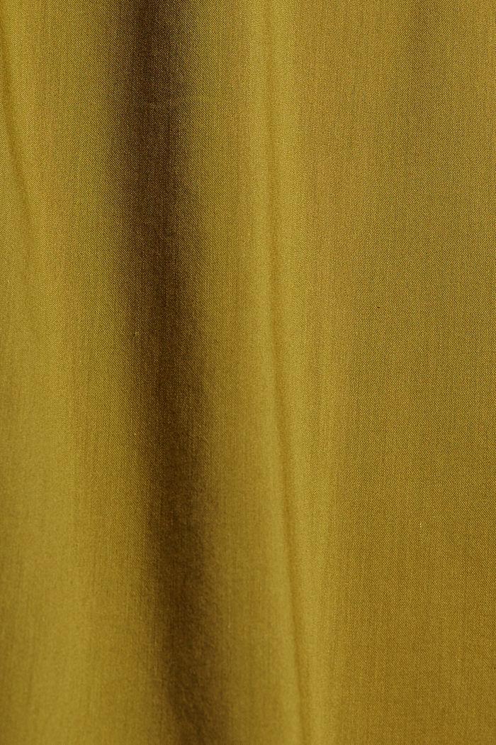 Robe tissée fluide à teneur en LENZING™ ECOVERO™, OLIVE, detail image number 4