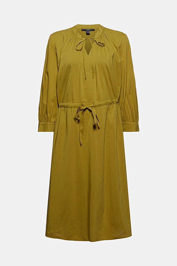 Robe tissée fluide à teneur en LENZING™ ECOVERO™, OLIVE, detail image number 7