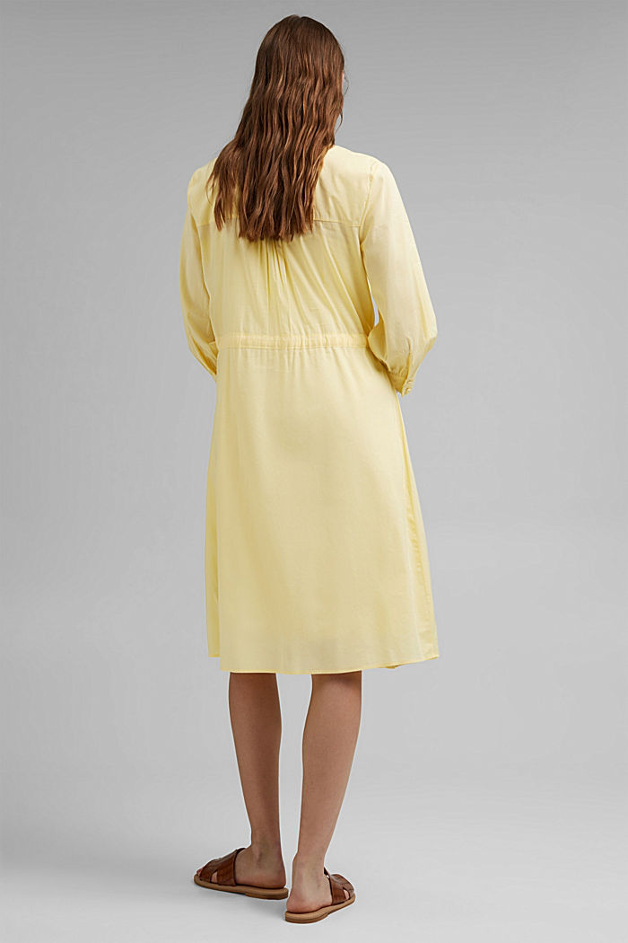 Flowing woven dress with LENZING™ ECOVERO™, LIGHT YELLOW, detail image number 2