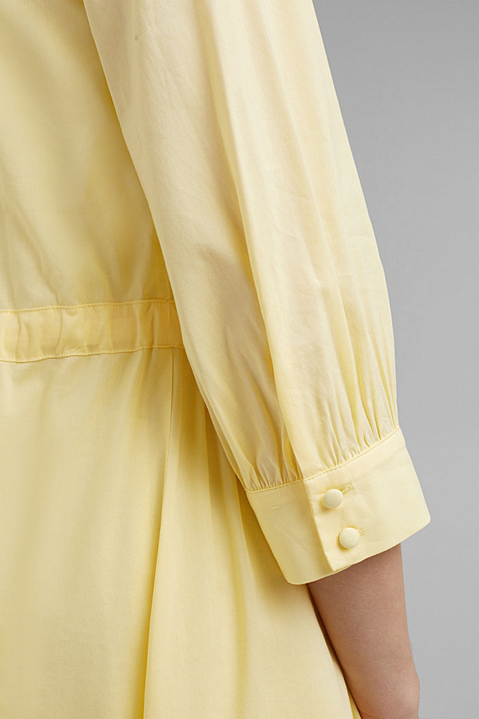 Flowing woven dress with LENZING™ ECOVERO™, LIGHT YELLOW, detail image number 3