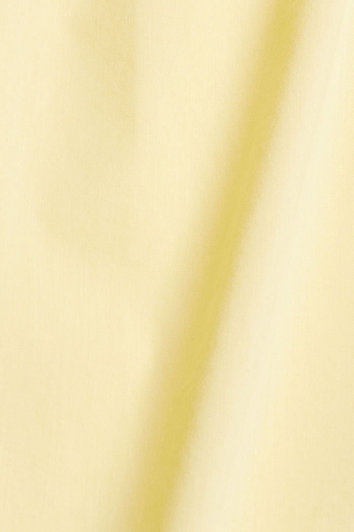 Flowing woven dress with LENZING™ ECOVERO™, LIGHT YELLOW, detail image number 4