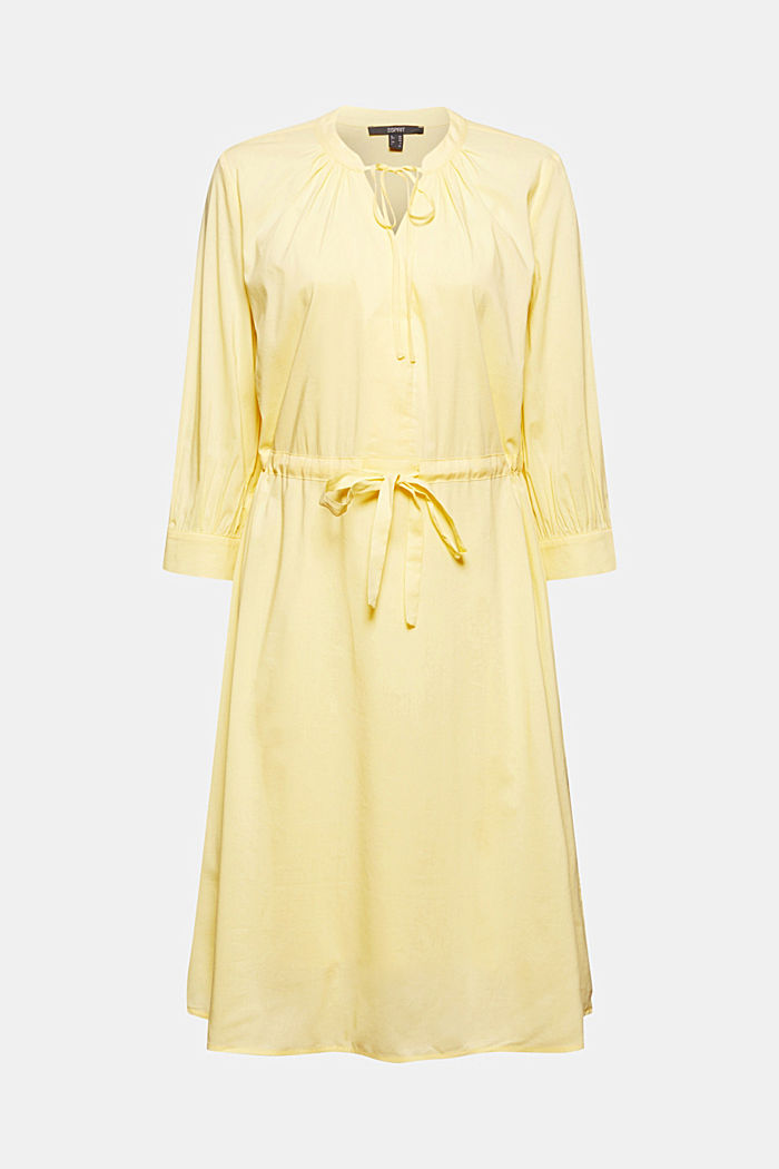 Flowing woven dress with LENZING™ ECOVERO™, LIGHT YELLOW, detail image number 6