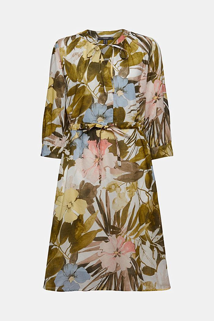 Kleid mit Flower-Print aus Baumwolle