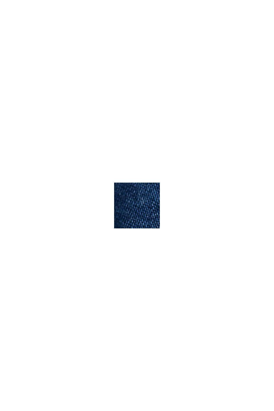 Aus TENCEL™: Kleid in Denim-Optik mit Gürtel, BLUE MEDIUM WASHED, swatch