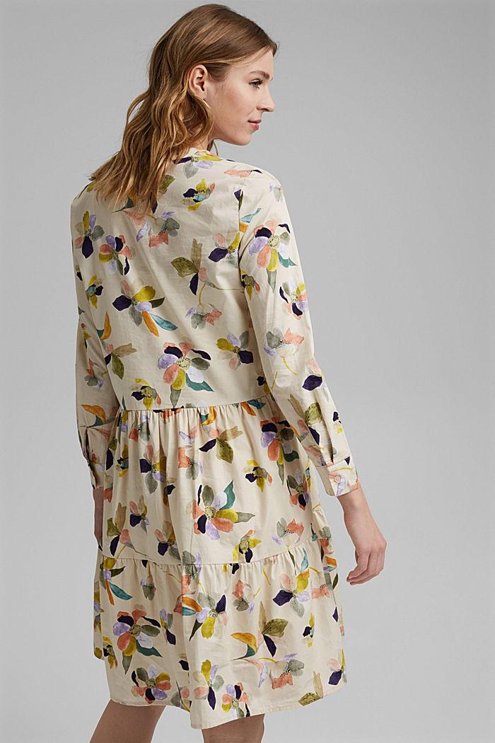 Vestido de popelina con estampado de flores, OFF WHITE, detail image number 2