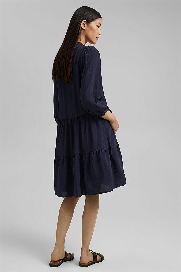 Gestuftes Kleid mit LENZING™ ECOVERO™, NAVY, detail image number 2