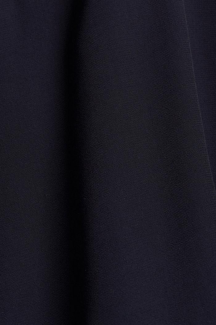 Gestuftes Kleid mit LENZING™ ECOVERO™, NAVY, detail image number 4