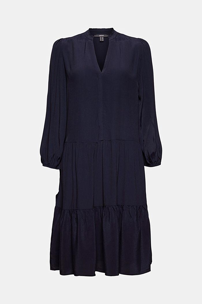 Gestuftes Kleid mit LENZING™ ECOVERO™