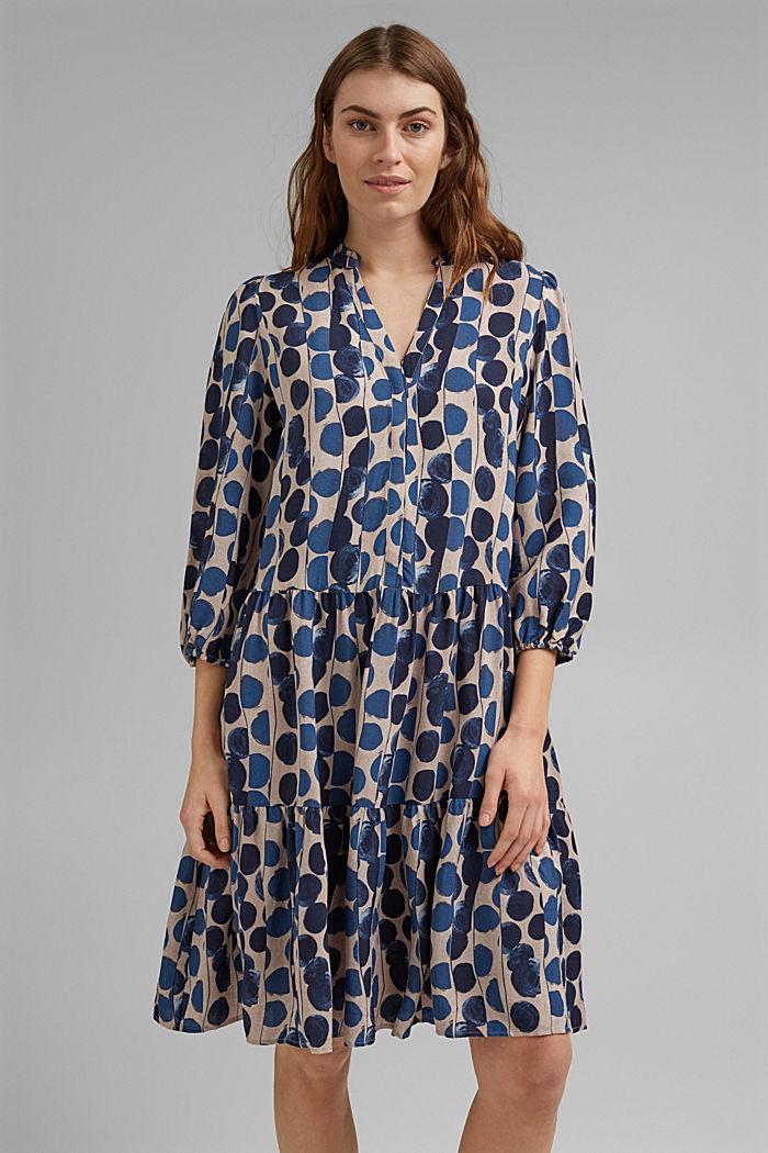 Hemdblusenkleid mit Volants, BRIGHT BLUE, detail image number 0