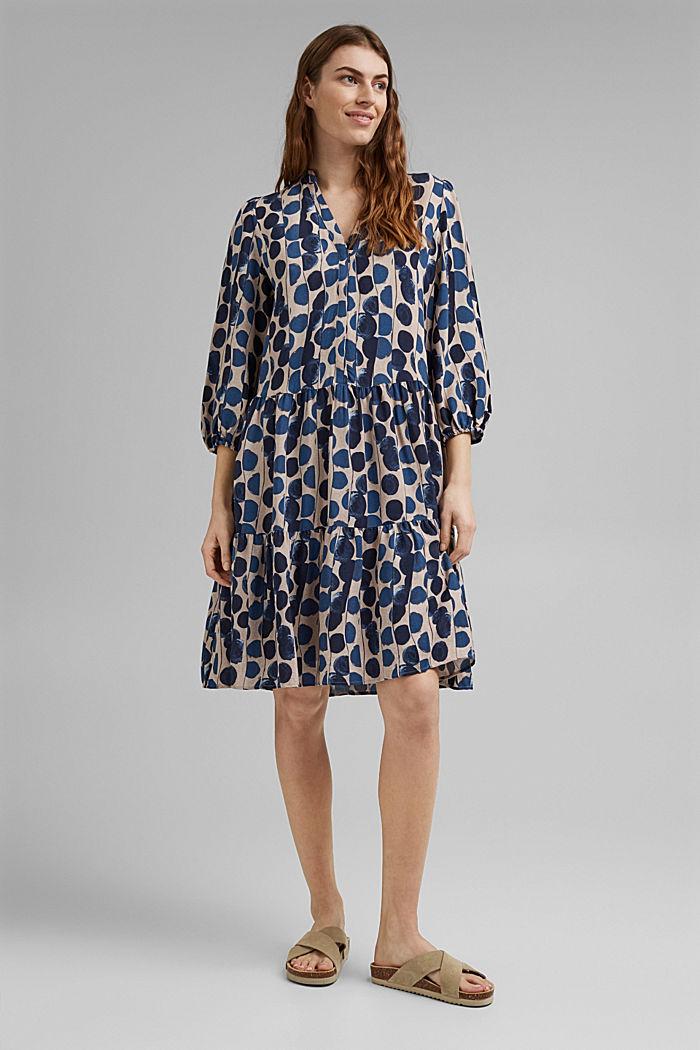 Hemdblusenkleid mit Volants, BRIGHT BLUE, detail image number 1