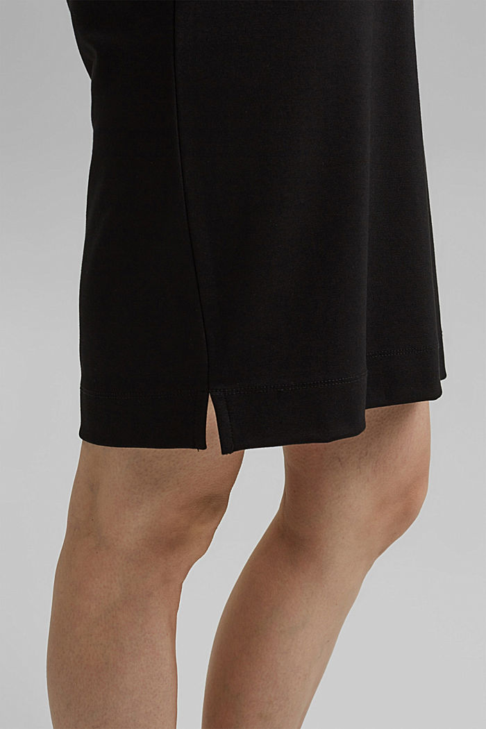 Jurk van jersey met LENZING™ ECOVERO™, BLACK, detail image number 6