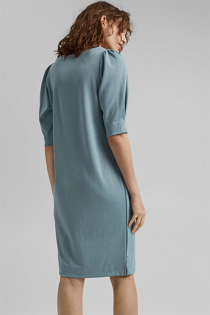 Dress made of punto jersey with LENZING™ ECOVERO™, DARK TURQUOISE, detail image number 2