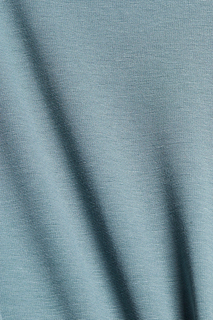 Dress made of punto jersey with LENZING™ ECOVERO™, DARK TURQUOISE, detail image number 4