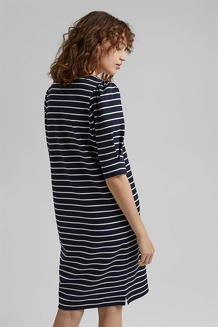 Jerseykleid aus LENZING™ ECOVERO™, NAVY, detail image number 2
