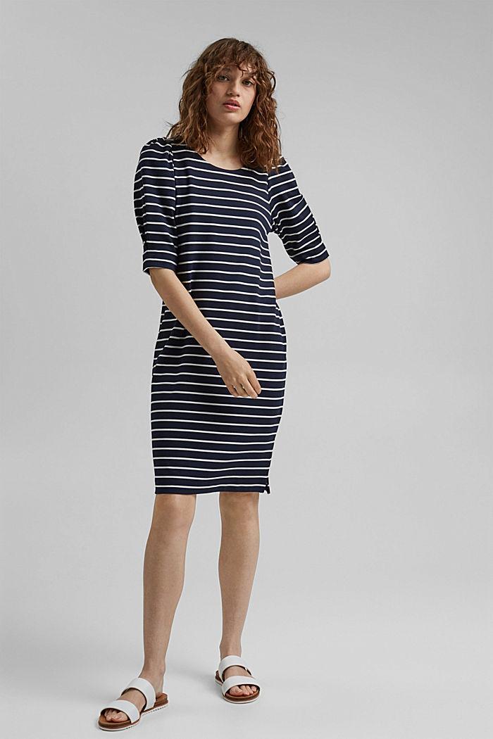 Jerseykleid aus LENZING™ ECOVERO™, NAVY, detail image number 1