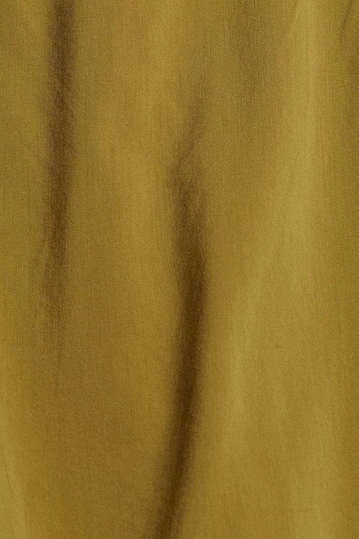 Chemisier avec haut, LENZING™ ECOVERO™, OLIVE, detail image number 4