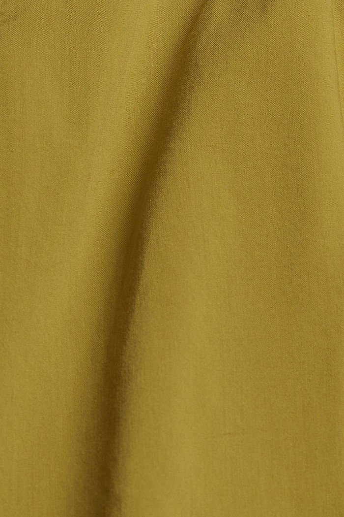 Blouse top with LENZING™ ECOVERO™, OLIVE, detail image number 4
