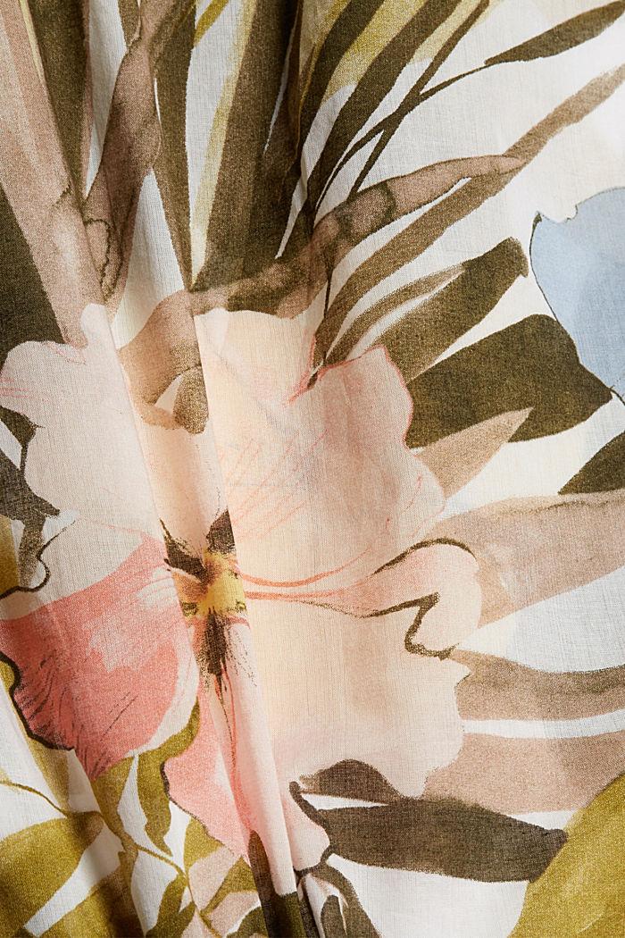 Painettu puserotoppi 100 % puuvillaa, OLIVE, detail image number 4