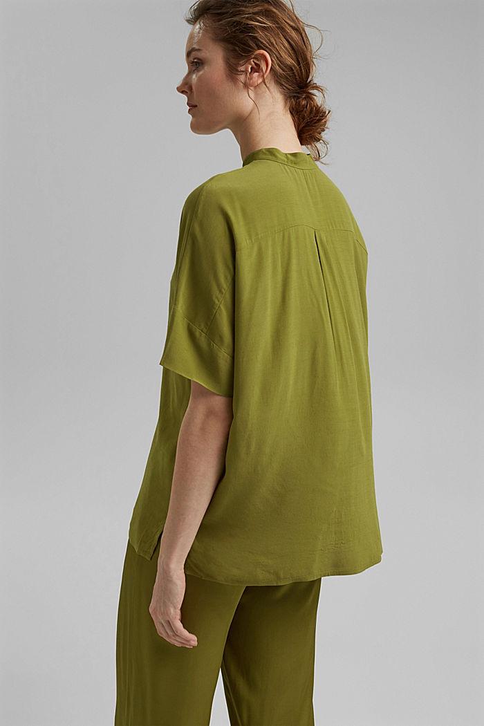 Oversized blouse with LENZING™ ECOVERO™, OLIVE, detail image number 3