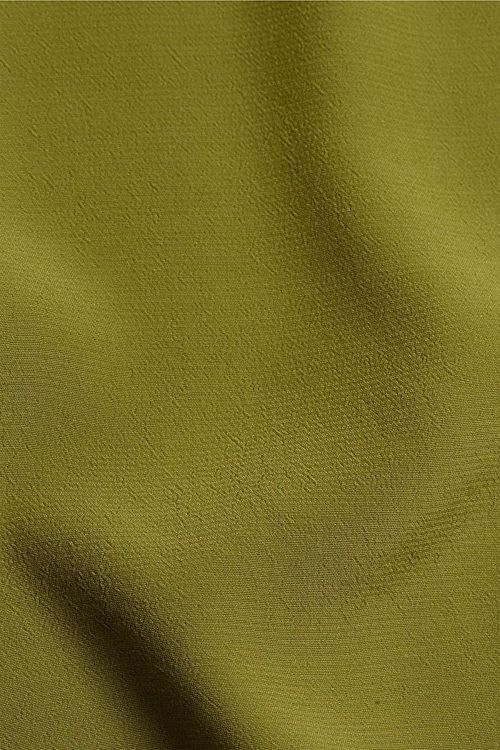 Oversized blouse with LENZING™ ECOVERO™, OLIVE, detail image number 4