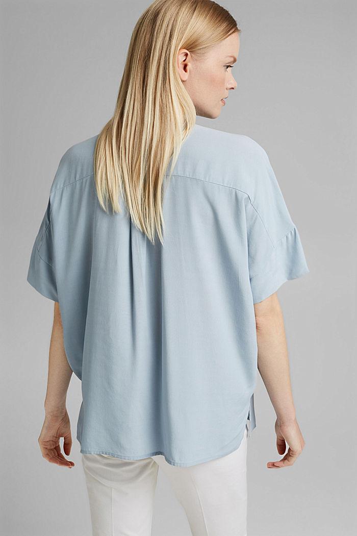 Oversized blouse with LENZING™ ECOVERO™, LIGHT BLUE, detail image number 3