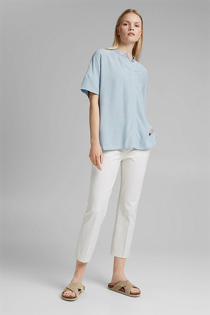 Oversized blouse with LENZING™ ECOVERO™, LIGHT BLUE, detail image number 1