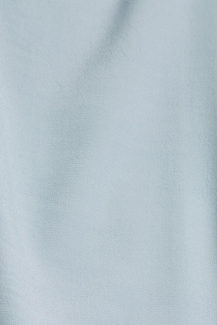 Oversized blouse with LENZING™ ECOVERO™, LIGHT BLUE, detail image number 4