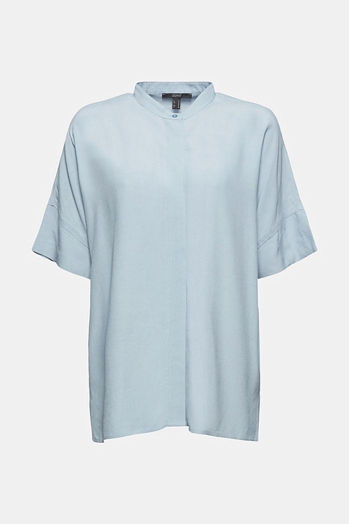 Oversized blouse with LENZING™ ECOVERO™, LIGHT BLUE, detail image number 5