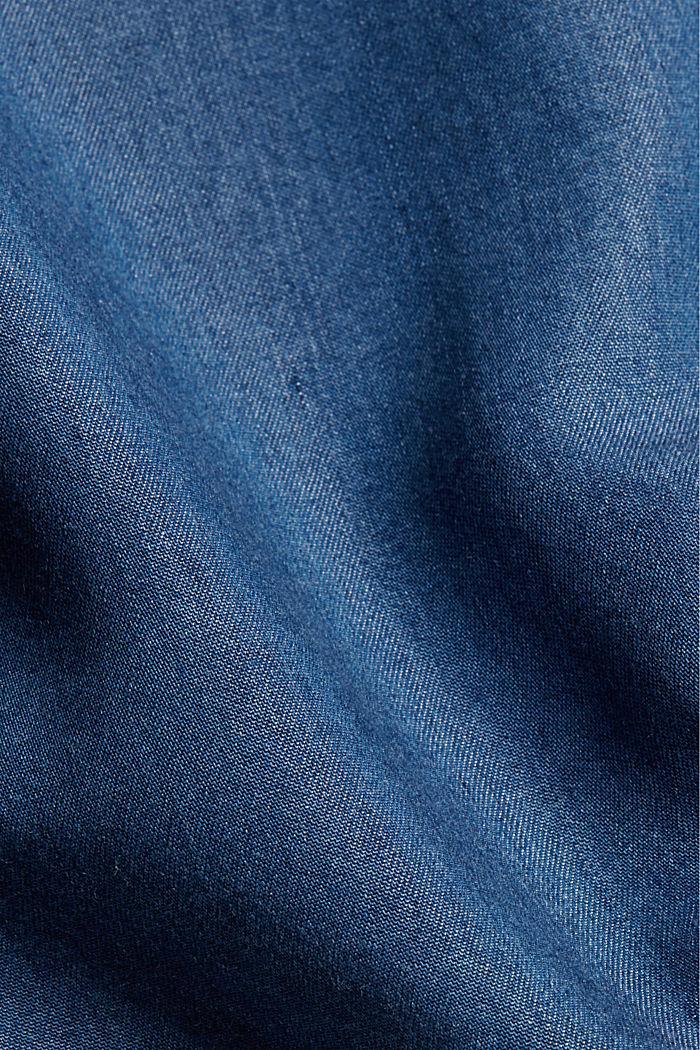Made of TENCEL™: denim-look blouse, BLUE MEDIUM WASHED, detail image number 4