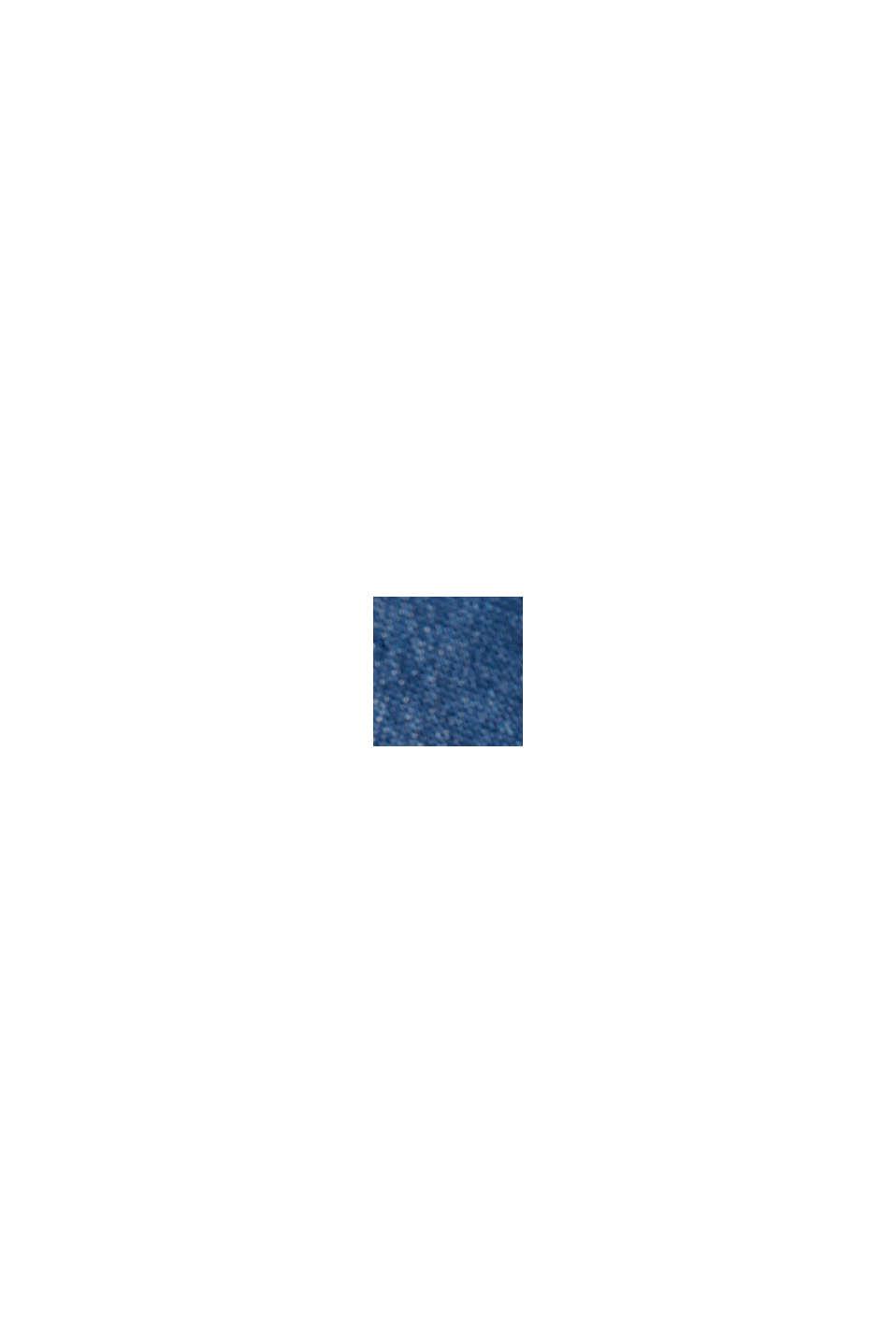 Z tkaniny TENCEL™: bluzka w denimowym stylu, BLUE MEDIUM WASHED, swatch