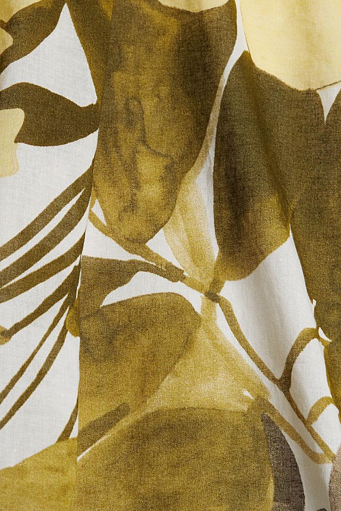 Bluse mit Print, 100% Baumwolle, OLIVE, detail image number 4