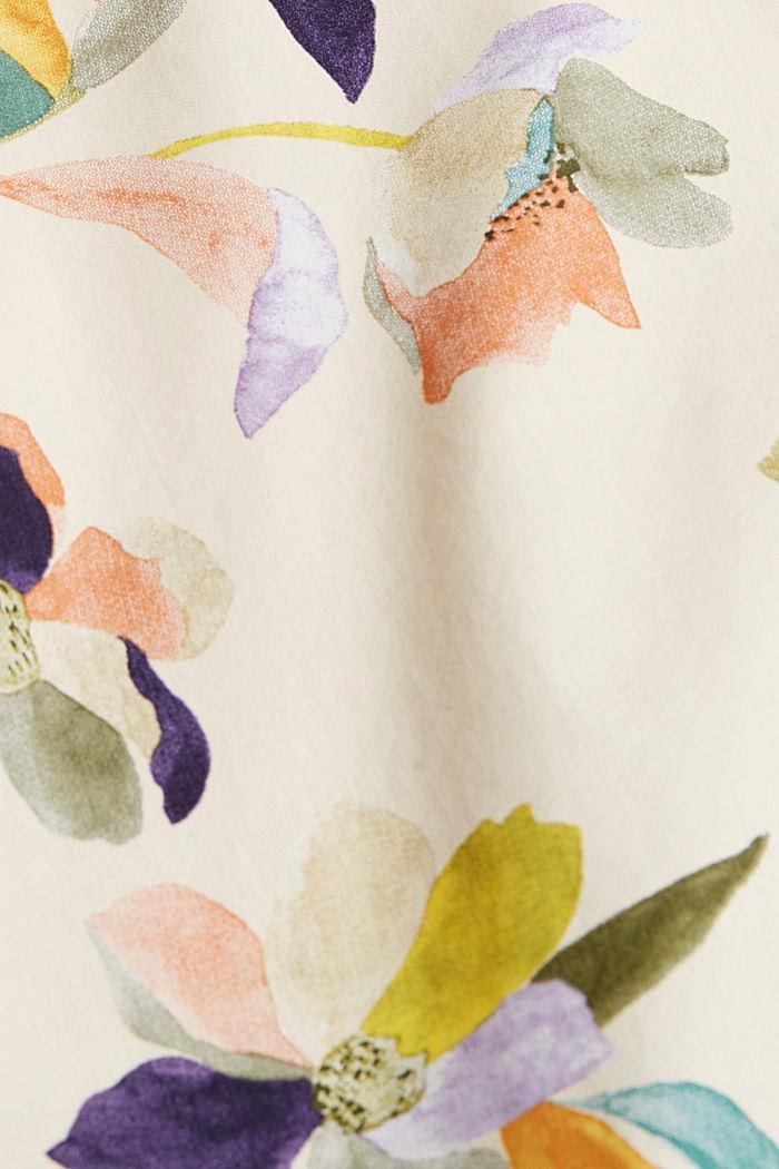 Blouse van popeline met bloemenprint, OFF WHITE, detail image number 4