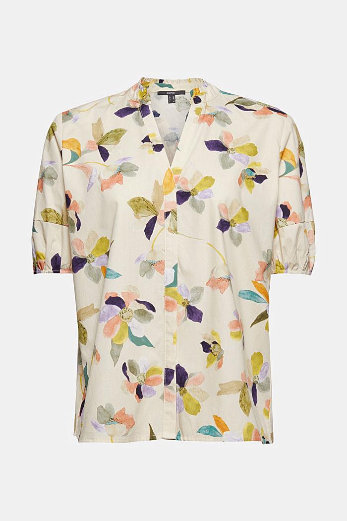 Bluse aus Popeline mit Blumen-Print