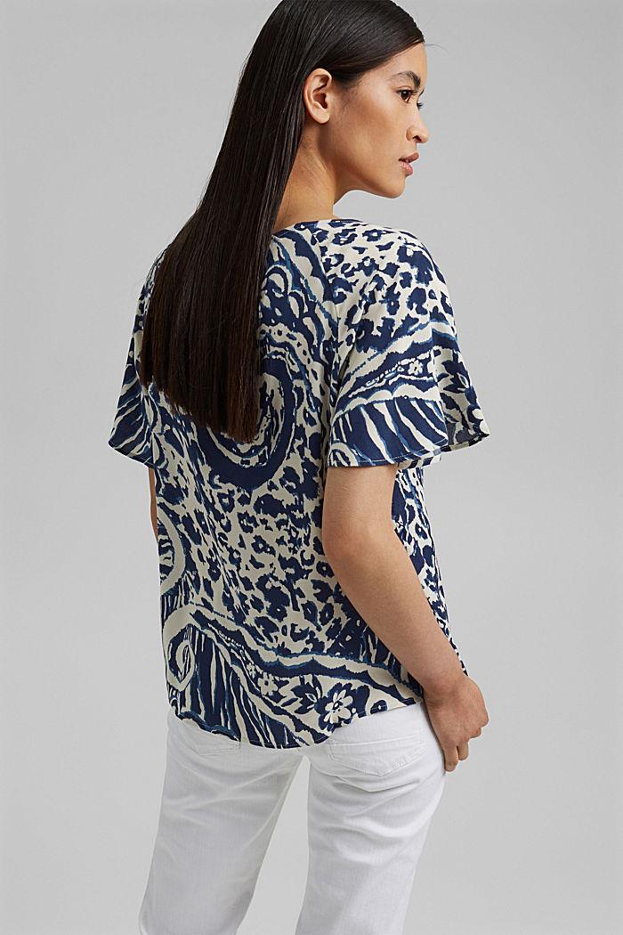 Gemusterte Bluse mit LENZING™ ECOVERO™, OFF WHITE, detail image number 3