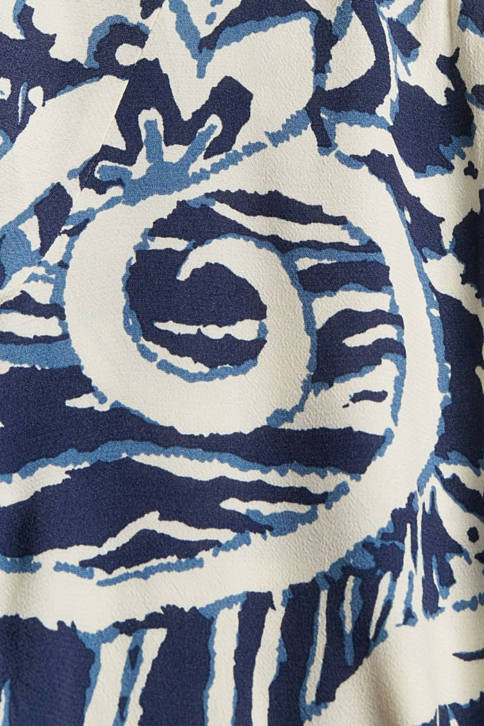 Gemusterte Bluse mit LENZING™ ECOVERO™, OFF WHITE, detail image number 4
