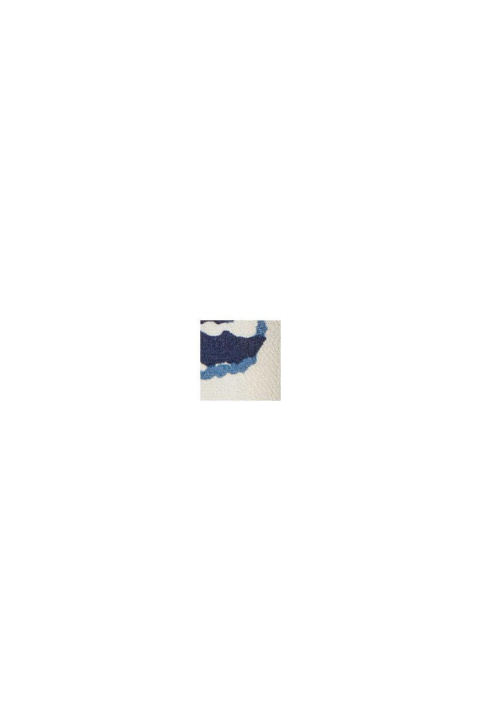 Gemusterte Bluse mit LENZING™ ECOVERO™, OFF WHITE, swatch