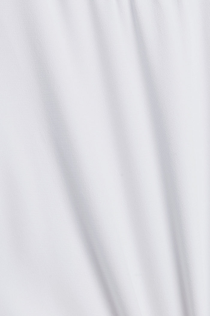 Halenkový top s vlákny LENZING™ ECOVERO™, WHITE, detail image number 4