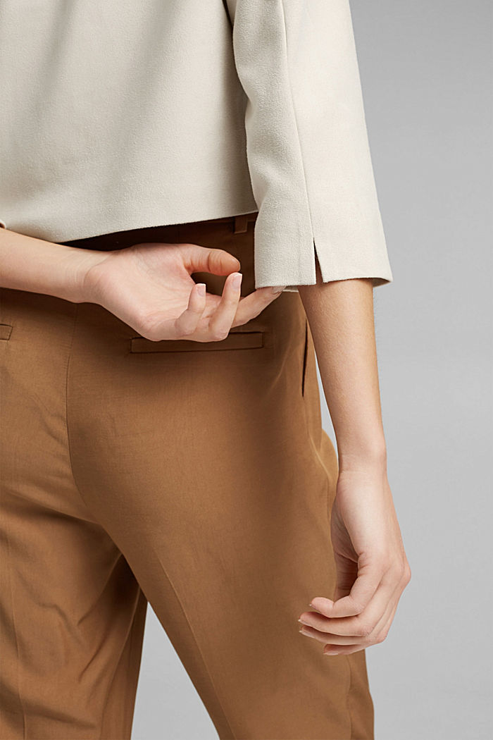 Recycled: faux suede blazer, LIGHT BEIGE, detail image number 2