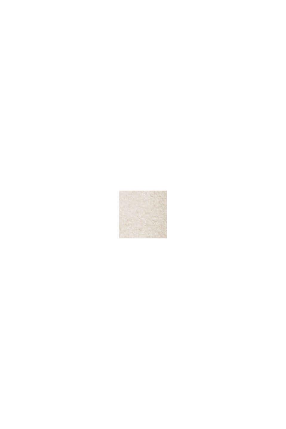 Z recyklingu: żakiet z aksamitnego materiału przypominającego skórę welurową, LIGHT BEIGE, swatch